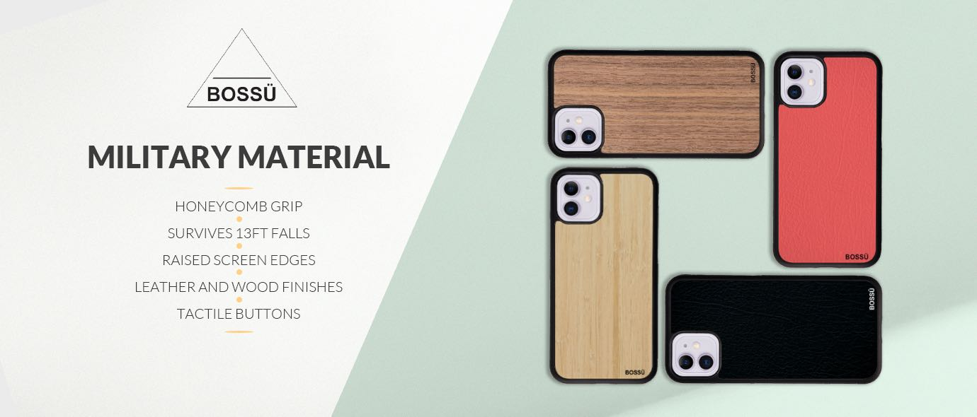 Leather & Wood Sheath Cases For Mobile Phones